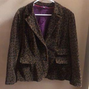 Boden Velvet Leopard Print Jacket